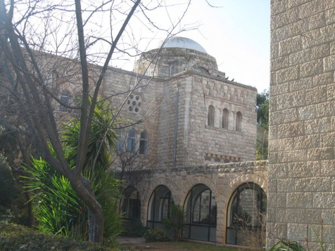 בניין וולפסון, אחד מהמוצבים בהר הצופים בשנים 1948-1967. (מוצב מאגנס)