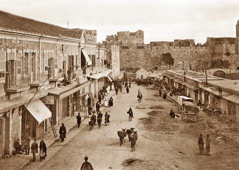 בתי מסחר ליד שער יפו