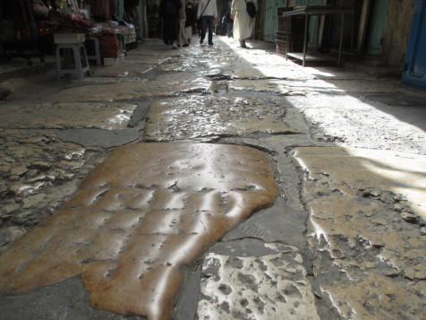 אבני ריצוף מהתקופה הרומית
