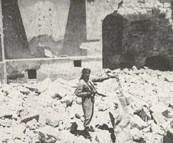 החורבה- דקות לאחר הפיצוץ